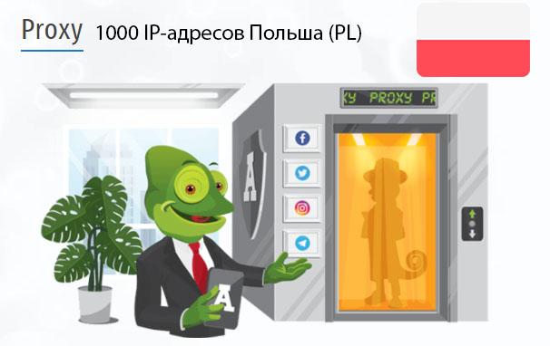 Стоимость 1000 пакетных прокси Польша (PL)
