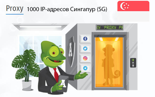 Стоимость 1000 пакетных прокси Сингапур (SG)