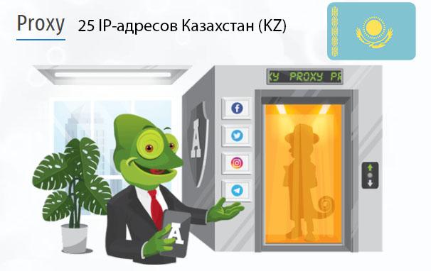 Стоимость 25 пакетных прокси Казахстан (KZ)