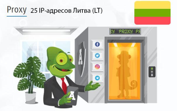 Стоимость 25 пакетных прокси Литва (LT)