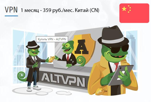 Купить подписку ВПН Китай (CN) на 1 месяц